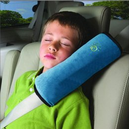 Capas de cinto de segurança para atacado do carro on-line-Atacado-2016 New Baby Car Travesseiros Auto Segurança Cinto de segurança Harness Pad Ombro Covers Crianças Proteção Kids Almofada Apoio Almofada