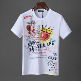 Coroa de cabeça de homens on-line-T-shirts masculinas de designer com estampas de alta qualidade da Europa e do mundo dos EUA são cabeças perfeitas onde a coroa do amor