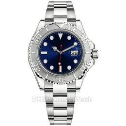 Роскошные часы Montre De Luxe 126621 126622 126655 226659 Мужские дизайнерские часы Дата Автоматические часы Синий циферблат Керамическая рамка 42 мм Наручные часы от