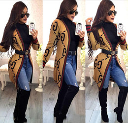Oberbekleidung frauen kleidung online-Designer Damenmode Oberbekleidung Rot Grün Streifen Damen Jacken Lady Lose Strickjacke Jacke Frauen Frühling Kleidung