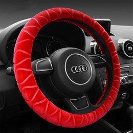 2019 volantes vw passat Best-selling car steering wheel cover four seasons universal short plush car plush steering wheel cover fashion car accessories C003 A200124