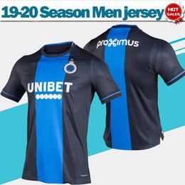 stampa di jersey di calcio Sconti Club Brugge KV casa maglie di calcio 19/20 adulto blu nero camice di calcio maniche corte 2020 uniformi di gioco non lo fanno di stampa