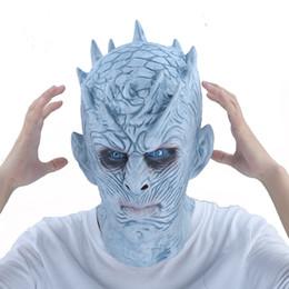 2019 giochi di costumi Game Of Thrones Maschera di Halloween Night's King Walker Face Night Re Zombie Maschera di lattice Adulti Cosplay Trono Costume Party Maschere J190710 sconti giochi di costumi
