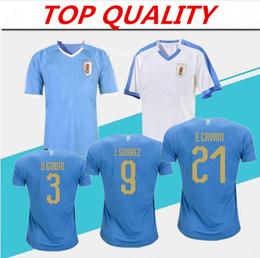 2019 maglie uruguay 2019 Copa America Uruguay Soccer Jersey 19/20 Home # 9 L.suarez # 21 E.cavani Soccer Shirt Ospite Nazionale Uniformi Calcio maglie uruguay economici