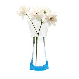 Irrompible Plástico Florero Plástico Reutilizable Plegable Creativo Magia PVC Jarrón 20.5 * 10.5 CM Color de la mezcla Decoración para el hogar desde fabricantes