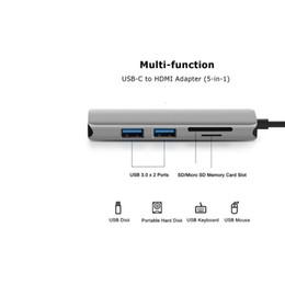 C Tipi HDMI 4K Hub Adaptörü 5 1 Alüminyum microSD / SD Kart Dell XPS 13 9350 için 2USB 3.0 bağlantı noktaları nereden