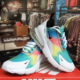 2019 niños multicolores zapatillas AIR270 zapatillas deportivas blancas shoess niños y niñas zapatos deportivos envío gratis desde fabricantes