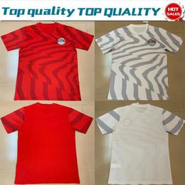 Camisas de egipto online-Copa del mundo 2019 Egipto casa fútbol Jersey Egipto # 10 M.SALAH 19/20 equipo de fútbol de la nación camiseta de fútbol hogar rojo blanco blanco Uniformes de fútbol