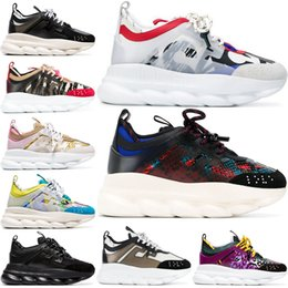 scarpe catene da neve Sconti 2020 Chain Reaction Scarpe firmate di lusso Uomo Donna Sneakers Snow Leopard Nero Bianco Maglia Pelle Moda donna Scarpe casual 36-45