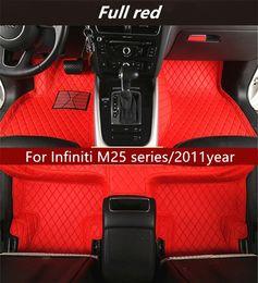 Usura di gomma completa online-Per la serie Infiniti M25 / 2011 anni stuoia di lusso interno in pelle impermeabile resistente all'usura tappeto ecologico
