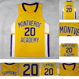 7f2e7625dfcb ben simmons Sconti Mens   20 Ben Simmons Montverde Academy Eagles College  Basket Jersey Jersey 100