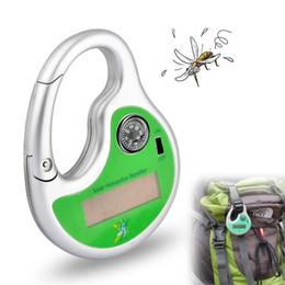 Ganchos de insectos online-Al aire libre, portátil, electrónico, mosquito solar, insecto, asesino, repelente, gancho, repelente de plagas, solar, mosquito, ultrasónico, con brújula