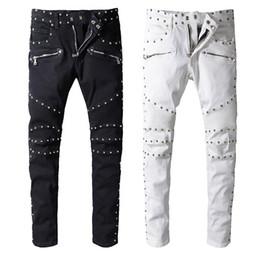 a9fd40b4f4 Pantalón de diseño de ropa de Balmain Pantalones Slp Camo Estampado verde  militar Destruido Hombres Slim Denim Biker Skinny Jeans Hombres Ripped Jeans  ropa ...