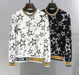 DG homens mulheres camisola famosa marca oficial 2019 novo estilo hoodies clássico carta estrelas branco preto blusas com capuz top qualidade pullover de Fornecedores de camisola preta estrelas brancas