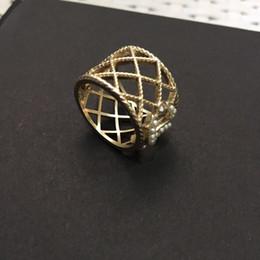 Avere francobolli di marca di modo anelli d'oro progettista per partito delle donne della signora di disegno Lovers Matrimonio regalo di monili di lusso per la sposa con la SCATOLA da