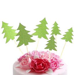 2019 biscotti di natale 10pcs Cupcake Topper Alberi di Natale decorativi Cupcake Picks Star per la decorazione del partito sconti biscotti di natale