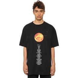 Vetements Planet Baskılı Tişört Siyah Büyük Boy Pamuk tişörtleri Erkekler Hip Hop Streetwear Kısa Kollu O-Boyun Casual tişörtleri NCI0812 Tops nereden