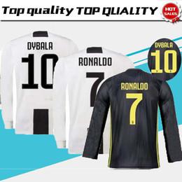 Thailand RONALDO Juventus 2019 long sleeve soccer jerseys DYBALA 18 19  football shirt Top fans player version Champion league MEN long sleev 554565282