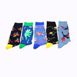 2019 носки для животных Cartoon animal print socks mouse bat  swan Smiling face cute fun men cotton sock sporting casual personalized soft comfort скидка носки для животных
