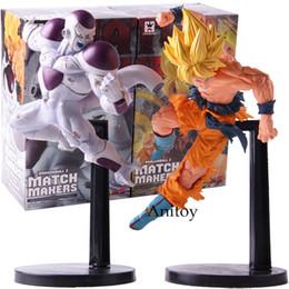 Gefrier-action-figuren online-Dragon Ball Z Match Makers Super Saiyajin Goku Gokou Freeza Frieza Gefrierschrank Dragonball Figur Action PVC Sammeln Modell Spielzeug Y190529