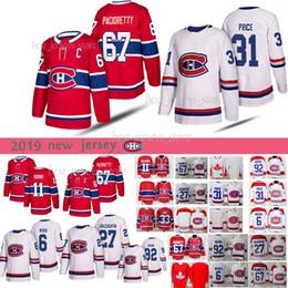 2019 drouin jersey Montreal Canadiens 67 Max Pacioretty 31 Preço Carey 6 Shea Weber 92 Camisas de Hóquei Jonathan Drouin drouin jersey barato