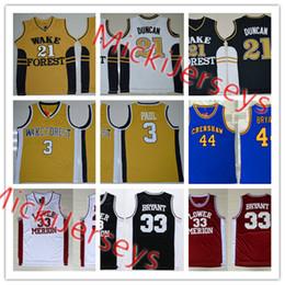 ecb2d66d6 2019  3 Chris Paul  21 Tim Duncan West Forsyth High School Basketball Jersey   44 Kobe Bryant Crenshaw Cougar  33 Kobe Bryant Lower Merion Jersey From ...