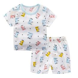 Deutschland Neue Kinderanzug 2019 Hohe Qualität Alle Baumwolle Kurzarm T-shirt Kurzer Rock Anzug für Sommer babys Versorgung