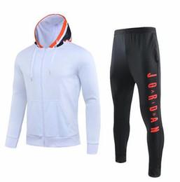 Jaqueta hoodie on-line-paris roupas de treinamento branco do hoodie survêtement 19-20 paris roupas de treinamento Mbappé jaqueta de futebol jordam ar futebol DESPORTO