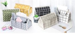 Supporto per carta auto online-Scatola in tessuto di lino in cotone Porta tovagliolo Porta carta di pompaggio Dispenser per auto Divano decorativo Contenitore di carta