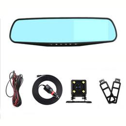 carro toyota rav4 Desconto carro gravador de condução Dual Lens Hd 4.3 polegadas Anti Espelho Azul Rear View Visão 2248 Hd Video Recorder