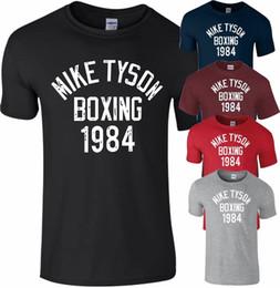 corrida livre camisetas Desconto Mike Tyson Legend Boxing 1984 T Shirt Treinamento de Ginástica Muscular Correndo MMA Top Homens Engraçado frete grátis Unisex Casual tee presente