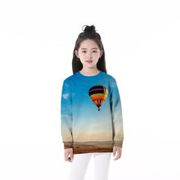Palloncini d'aria lunghi online-Felpa per bambini Hot Air Balloon 3D Graphic Full stampato Casual Boy Girl Pullover Felpa con cappuccio Bambino maniche lunghe Unisex con cappuccio Top (RLCwy-56016)