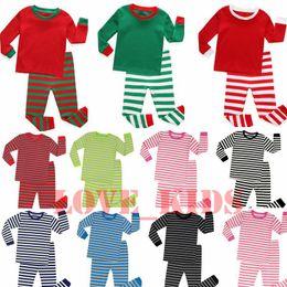 Noel Pijama Çocuk Pijama Ev Giyim Erkekler Kızlar Gecelik Boş Sonbahar Kış İki parçalı Giyim Noel Gecelik 2-8T ayarlar Wear nereden
