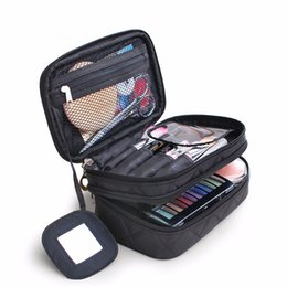 cosmetic black up makeup Australia - Women Cosmetic Bags Makeup travel  organizer portable kosmetyczka case double 3f776ee48232a