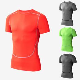 Soccer shorts free shipping on-line-Frete Grátis Sports Fitness correndo Basquete treinamento de futebol homens de manga curta secagem Rápida designer t-shirt