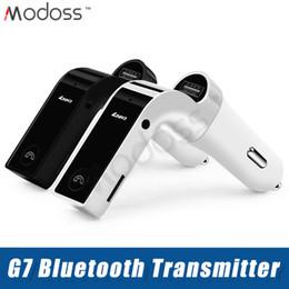 Deutschland Auto G7 Bluetooth Sender Bluetooth Wireless Car Kit Freisprecheinrichtung MP3 FM Adapter Sender mit USB-Autoladegerät Versorgung