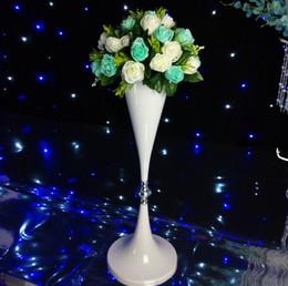 2019 suporte de vaso alto 12pcs) Wedding Atacado Alto metal Table Centerpiece Stands vaso de flor Levante senyu1457 ouro Coluna Decoração desconto suporte de vaso alto