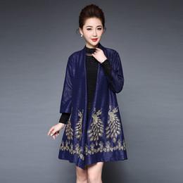 Vêtements ethniques en vrac en Ligne-Costume de style national costume mode féminine brodée paon Style coréen Ethnique Loose Blouses Casual femmes ourfit