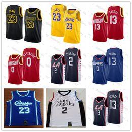 Camisas de basquete on-line-NCAA Mens James 23 LeBron Jersey Russell Westbrook 0 Kawhi 2 Leonard 13 Harden Paul 13 George 30 Curry College Basketball Jerseys