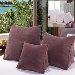 sofá moderno marrom Desconto Urijk Simples Estilo Moderno Travesseiro Marrom Para O Estudo Sofá Escritório Car Almofada Cor Sólida Travesseiro Quarto Decoração de Casa 55 * 55 * 28 cm