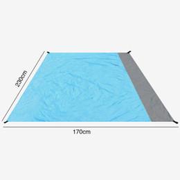 tapete de jogo de tecido para crianças Desconto Piquenique ao ar livre Camping Beach Tent Mat À Prova D 'Água Mat Gramado Pano De Pano Umidade-prova Almofadas De Piquenique Encerado Sólido 170 * 230/210 * 270 cm