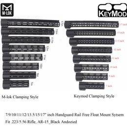keymod mount Скидка 7/9/10/11/12 / 13,5 / 15/17 '' дюймов Keymod / M-lok Зажимная рейка для поручня с креплением Picatinny Mount System_Black Anodized