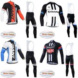 2019 camisetas de ciclismo baratos 2019 equipo nuevo gigante de ciclo del invierno polar jersey (BIB) pantalones libera a los hombres de manga larga maillot moto roupa ciclismo lzfshop