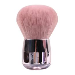 Testa di funghi online-Spazzola per Trucco Funghi Mini Mini Pennello per Polvere in polvere Testa piatta in oro rosa Testa rotonda Protable Pennelli per trucco Strumenti cosmetici carini HHA315