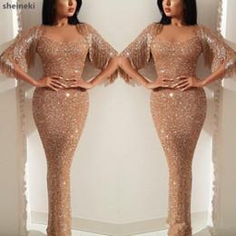 2019 vestidos de estilo de vestido reto 2019 New Sparkly Chegada Querida Bainha Vestidos de Baile Mangas Curtas Vestidos Formais À Noite Desgaste Especial Ocasião Tassel Custom made