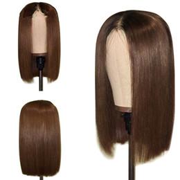 Kurze Bob Human Perücken 1B / 30 Brasilianische Remy Haar Perücken für Frauen Lace Front Echthaar Perücken von Fabrikanten