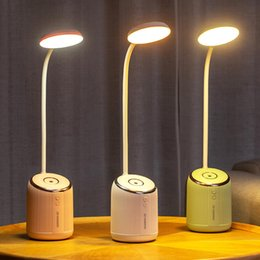 painting abs plastics Coupons - USB Rechargeable Air Humidifier LED Desks Table Lamp Adjustable Intensity Reading Light Lamp 3 Modes Desk Lamps