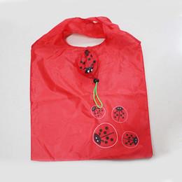 50 ADET / GRUP Hayvan Böceği Fold Alışveriş Çantası Oxford Bez Çevre Koruma Karikatür Alışveriş Kullanımlık çanta Tote Çanta nereden