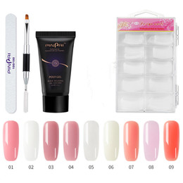 2019 set di punte set nail art acrilico 30g Clear Pink Nail Gel Set Nail UV LED Estendere Builder Gel acrilico per la costruzione Manicure Nail Art Extension Extension Polygel Kit K225