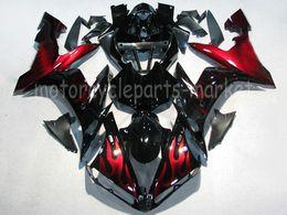 Inyección negro roja de la llama de la motocicleta ABS de plástico moldeado carenado de la carrocería del marco completo para Yamaha YZF R1 2004-2006 YZFR1 2005 desde fabricantes